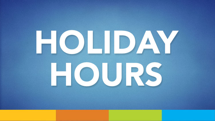 MWR Holiday Hours of Operation