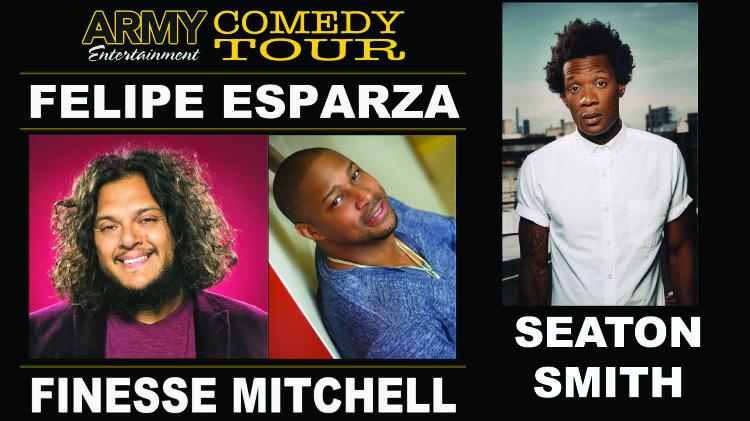 Army Entertainment Comedy Tour: Felipe Esparza, Finesse Mitchell, and Seaton Smith