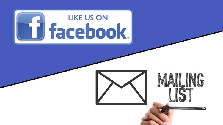 Subscribe Our Facebook & Mailing List
